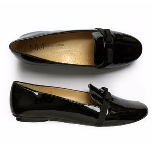 Neiman Marcus Selvia Grosgrain Bow Oxford Loafers